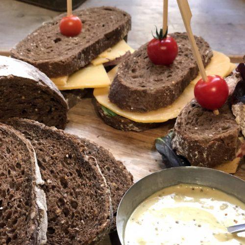 Gezonde belegde broodjes
