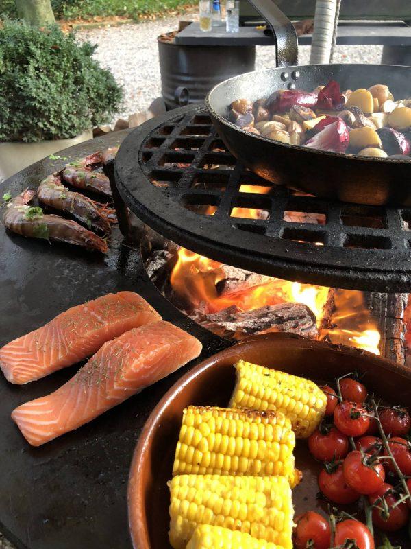 Dutch Biz Amersfoort Evenementen BBQ Culinair Zalm Gamba